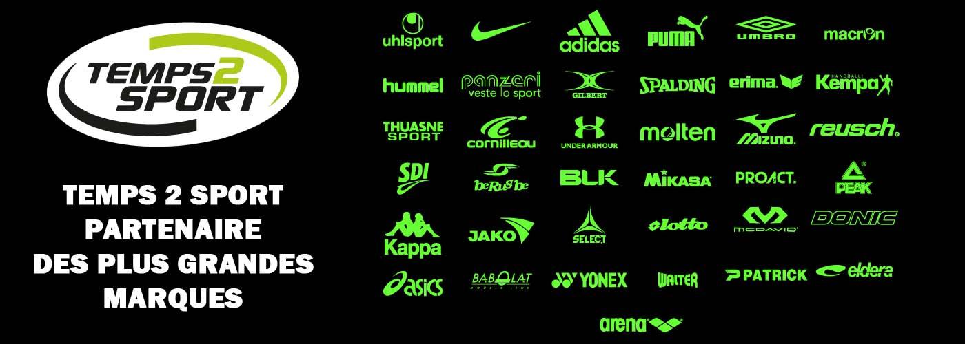 Temps 2 sport partenaire des grandes marques de sport