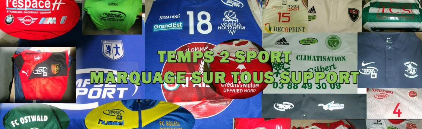 Marquage sur tous support temps E sport