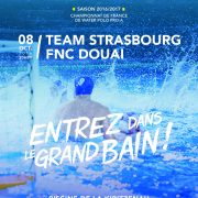 team strasbourg water polo affiche match temps2sport equipement sportif
