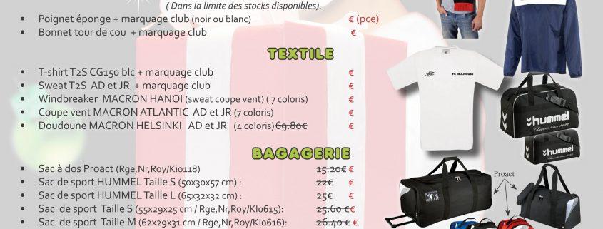 Listing offre Noël Temps 2 sport idée cadeau sportif publicitaire