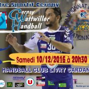 match handball nationale 2 livry gardan temps 2 sport