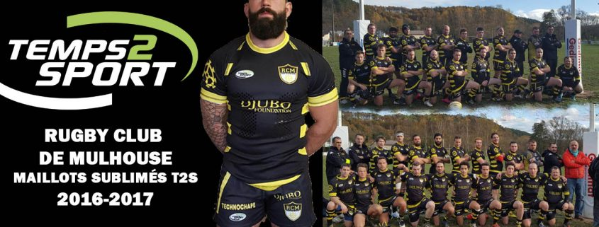Rugby Mulhouse maillot sublimes temps 2 sport