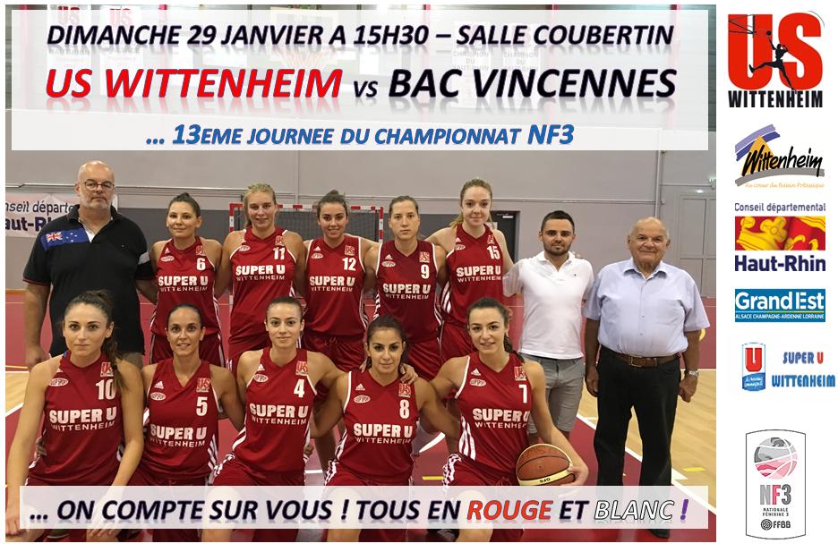 Basket Wittenheim rencontre Basket Vincennes