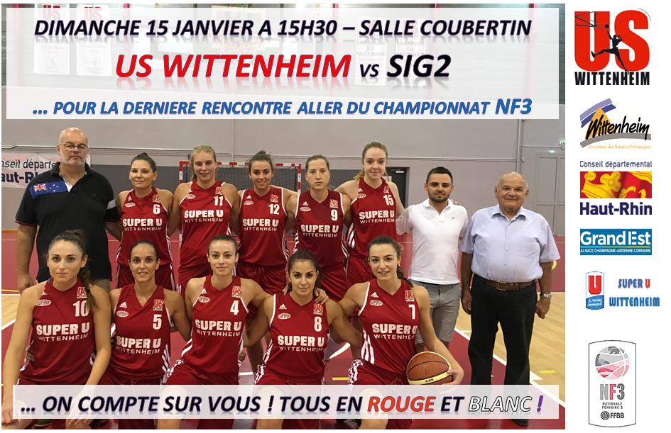 match féminin basket N3 Us wittenheim Sig2 Temps2sport