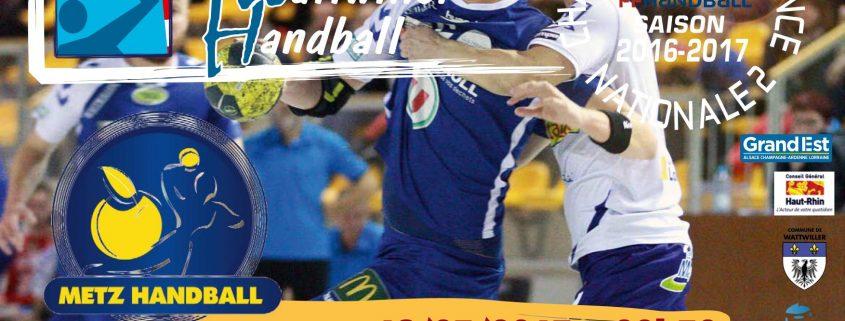 equipe de cernay recoit Metz Handball