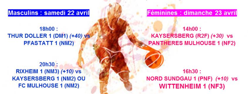 Demi finales CCM Basket à Wittenheim avec temps 2 Sport