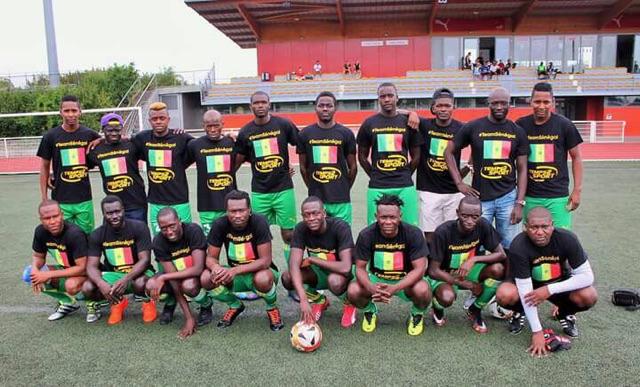 Equipe du Sénégal coupe d'afrique d'alsace maillot temps 2 sport