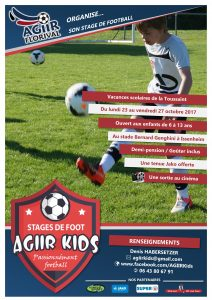 Stage Agiir Kids Toussaint 2017 avec Temps 2 Sport
