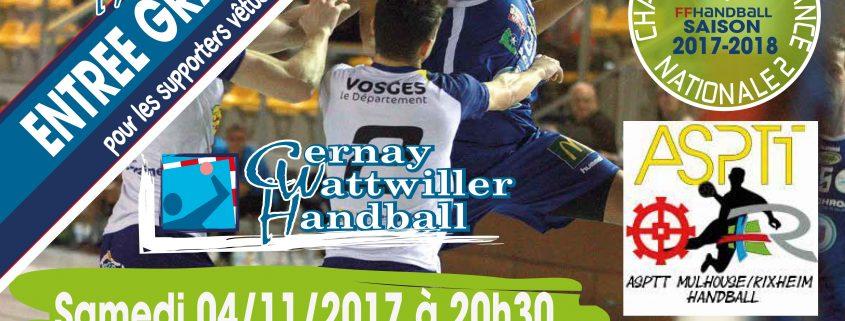 cernay wattwiller handball vs asptt mulhouse avec temps 2 sport