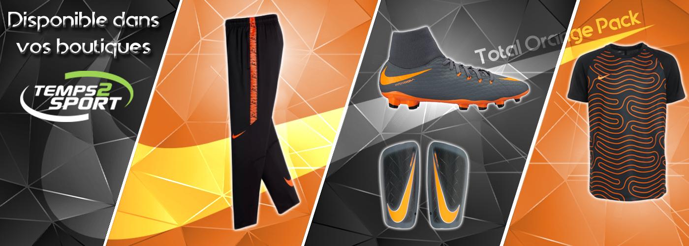 gamme nike total orange 2018 chez temps 2 sport