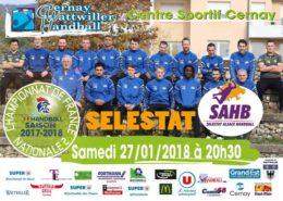 temps2sport handball cernay vs selestat