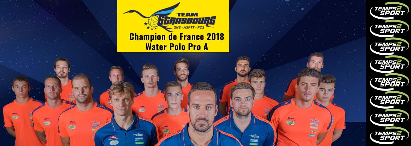 temps 2 sport partenaire Team Strasbourg champion de france 2018