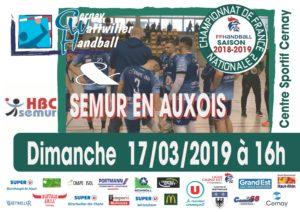 cernay handball vs semur