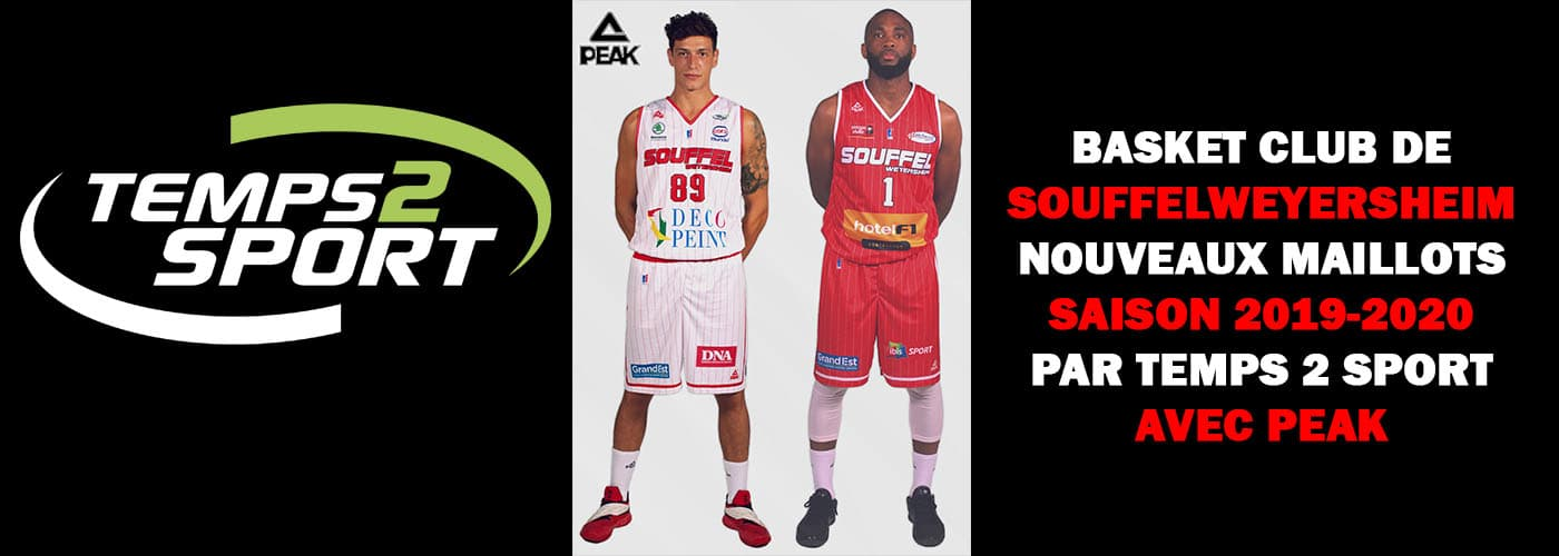 nouveaux maillots BCS rouge et blanc avec temps 2 sport