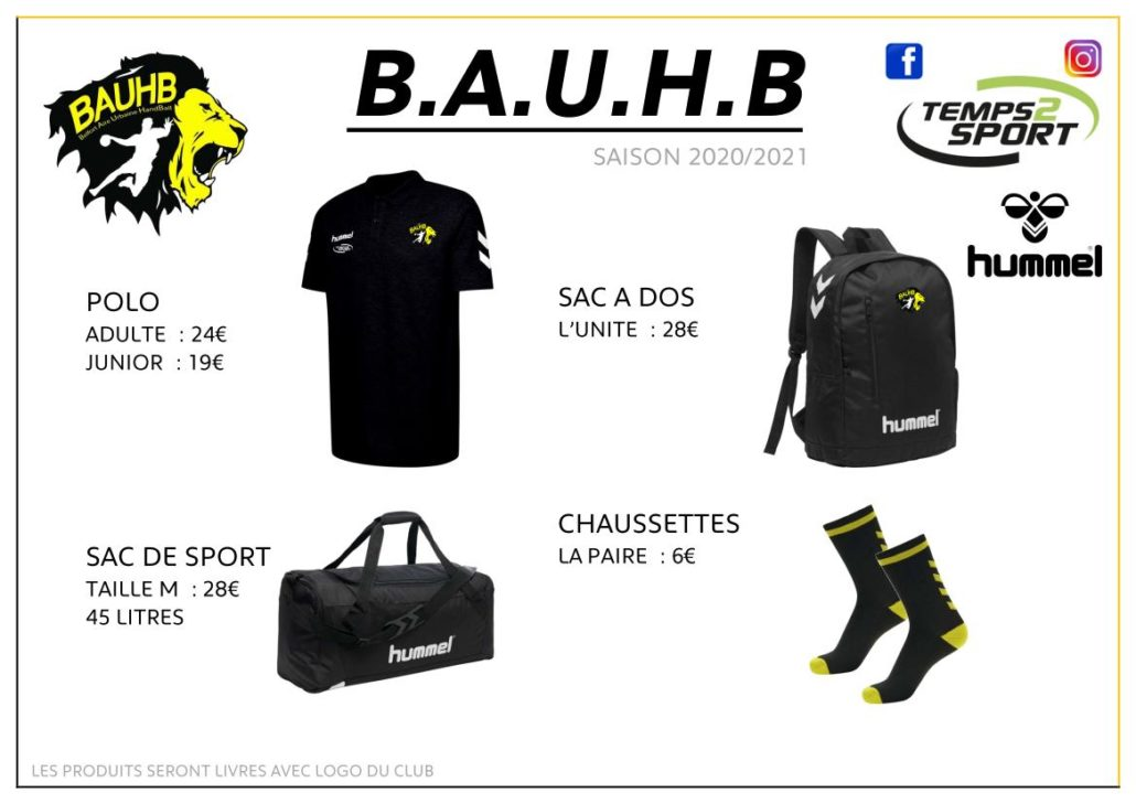 boutique du club BAUHB 2020
