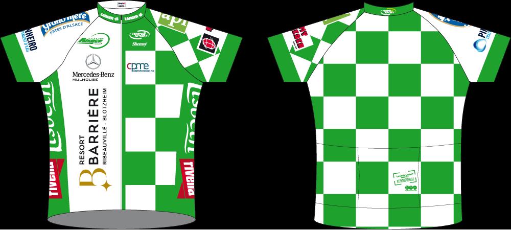 Maillot Vert Tour Alsace 2017 par temps2sport
