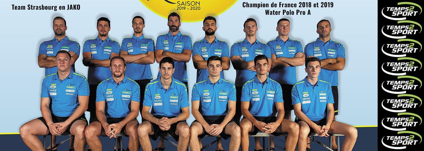 Team Strasbourg Water polo en JAKO et Temps 2 Sport