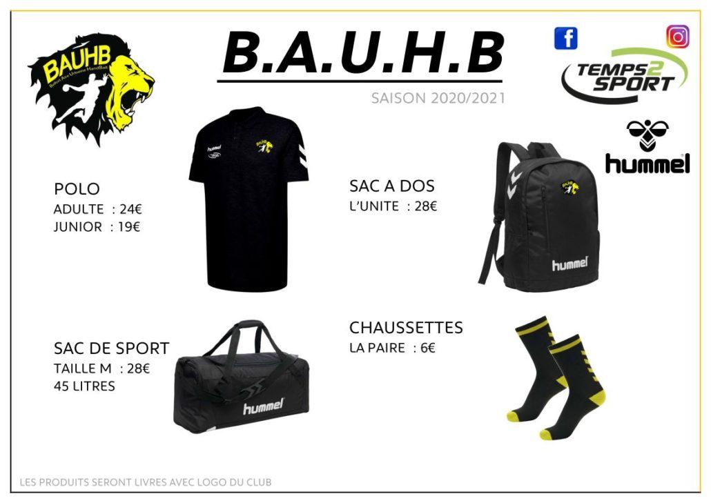 boutique du club BAUHB 2020
