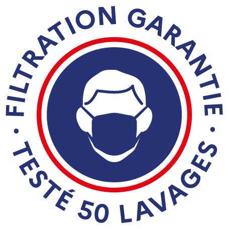 Filtration masque 50 lavages Temps 2 Sport